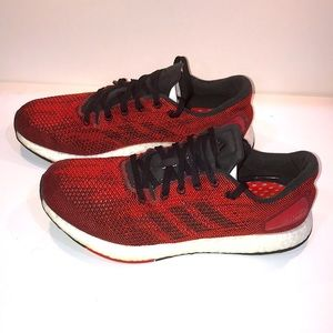 Red Black Adidas Pureboost Running Shoes BB6294
